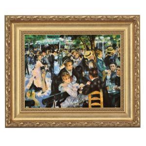 ルノワール「ムーラン・ド・ラ・ギャレット」 4号サイズ 立体複製名画 美術品 レプリカ - アートの友社|k-1ba