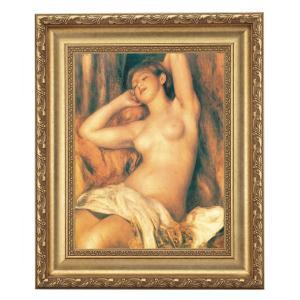 ルノワール「眠る裸婦」 4号サイズ 立体複製名画 美術品 レプリカ - アートの友社|k-1ba