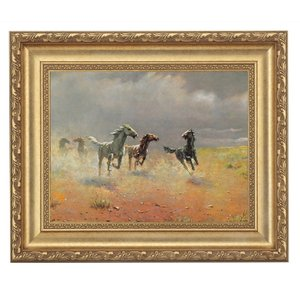 アルボー「荒野の群馬」 4号サイズ 立体複製名画 美術品 レプリカ - アートの友社|k-1ba