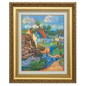 立体複製名画 ゴッホ 「オーヴェルの家々」 美術品 レプリカ 壁掛け インテリア - アートの友社 k-1ba