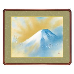 横山大観 作品 「霊峰飛鶴」 高級額装 壁掛け - アートの友社|k-1ba