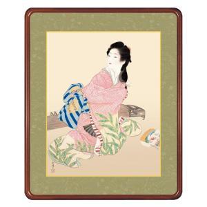 上村松園 作品 「娘深雪」 高級額装 壁掛け インテリア - アートの友社|k-1ba
