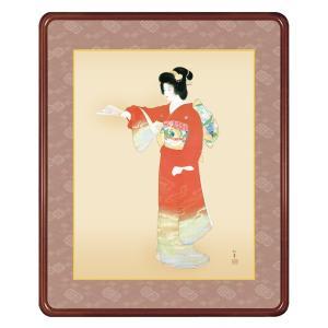 上村松園 作品 「序の舞」 高級額装 壁掛け インテリア - アートの友社|k-1ba