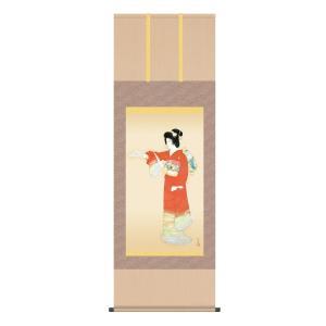 上村松園 作品 「序の舞」 高級掛軸 インテリア - アートの友社|k-1ba