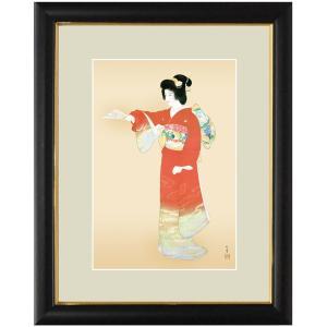 上村松園 作品 「序の舞」 額装 壁掛け インテリア - アートの友社|k-1ba