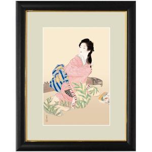 上村松園 作品 「娘深雪」 額装 壁掛け インテリア - アートの友社 k-1ba