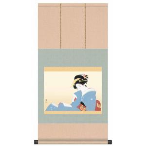 上村松園 作品 「つれづれ」 掛軸 インテリア - アートの友社 k-1ba