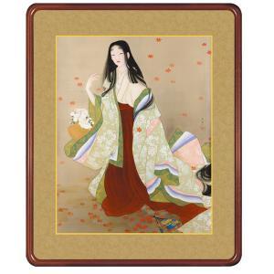 上村松園 複製名画 「花がたみ」 高級額装 壁掛け インテリア - アートの友社 k-1ba
