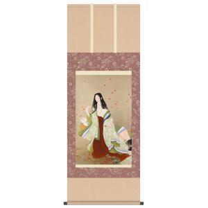 上村松園 複製名画 「花がたみ」 高級掛軸 壁掛け インテリア - アートの友社|k-1ba