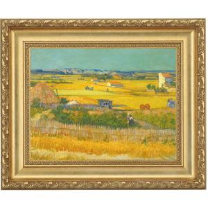 立体複製名画 ゴッホ「クロー平野の収穫風景」F4号 - アートの友社|k-1ba