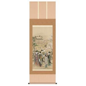 葛飾北斎 観桜会図 複製掛軸 - アートの友社|k-1ba