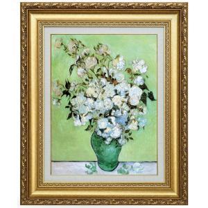 ゴッホ 花瓶のバラ 立体複製名画 美術品 レプリカ - アートの友社|k-1ba