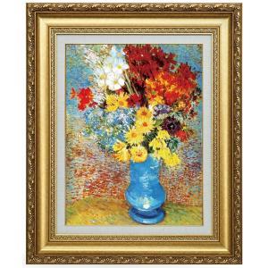 ゴッホ 青い花瓶の花 立体複製名画 美術品 レプリカ - アートの友社|k-1ba