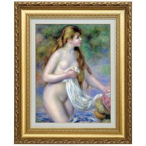 ルノワール 長い髪の浴女 F6号 立体複製名画 美術品 レプリカ - アートの友社|k-1ba