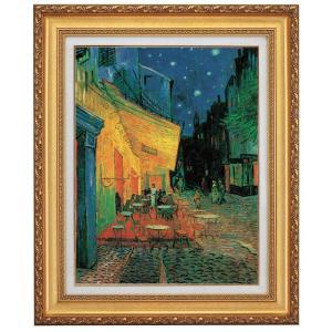 ゴッホ 夜のカフェテラス F10号 立体複製名画 美術品 レプリカ - アートの友社|k-1ba