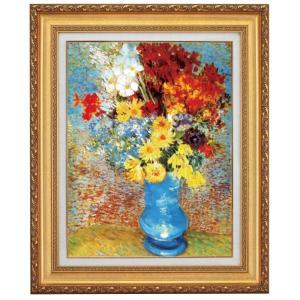 ゴッホ 青い花瓶の花 F10号 立体複製名画 美術品 レプリカ - アートの友社|k-1ba