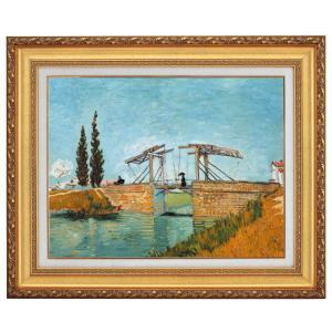 ゴッホ  ラングロア橋 F10号 立体複製名画 美術品 レプリカ - アートの友社|k-1ba