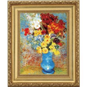 立体複製名画 ゴッホ「青い花瓶の花」 F4号 - アートの友社|k-1ba