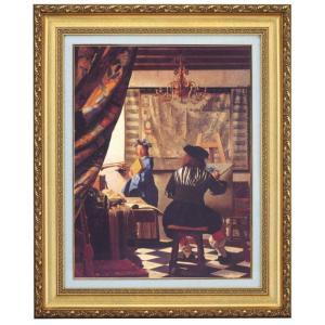 立体複製名画 フェルメール「画家のアトリエ」F10号 - アートの友社|k-1ba