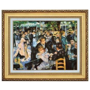 ルノワール ムーラン・ド・ラ・ギャレット F10号 立体複製名画 美術品 レプリカ - アートの友社|k-1ba