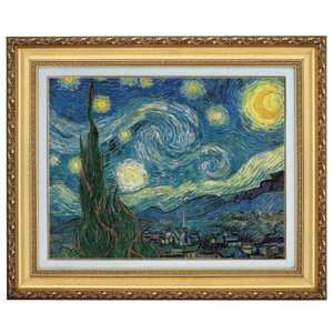 ゴッホ 星月夜 F10号 立体複製名画 美術品 レプリカ - アートの友社|k-1ba