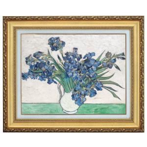 ゴッホ 花瓶のアイリス F6号 立体複製名画 美術品 レプリカ - アートの友社 k-1ba