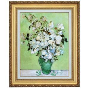 ゴッホ 花瓶のバラ F10号 立体複製名画 美術品 レプリカ - アートの友社|k-1ba