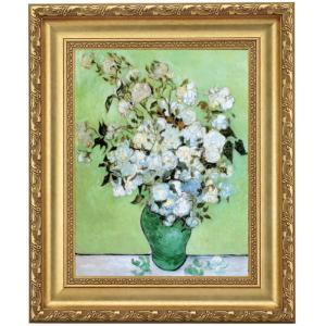 立体複製名画 ゴッホ「花瓶のバラ」F4号 - アートの友社|k-1ba