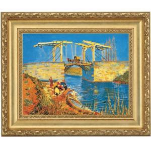 立体複製名画 ゴッホ「アルルの跳ね橋(馬車)」 F10号 - アートの友社|k-1ba