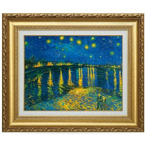 立体複製名画 ゴッホ「ローヌ川の星月夜」(10号) - アートの友社|k-1ba