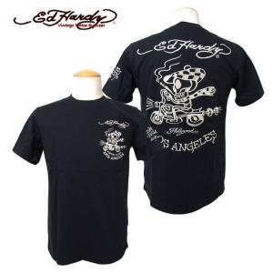 Ed Hardy【エドハーディー】スカルハーレーSPEED KILLSメンズ半袖Tシャツ|k-2climb