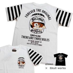 難あり skull works tシャツ SKULL WORKS×グレムリン 半袖Tシャツ L 映画...
