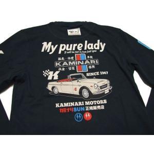 カミナリ ロンT My Pure Lady Part II 長袖Tシャツ 雷 メンズ KMLT-73 カミナリモータース|k-2climb