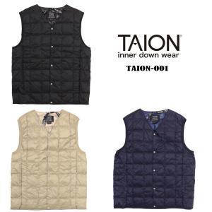 TAIONの定番インナーダウンは、ジャケットやコートの下に着るのはもちろん、 Tシャツ・シャツ・パー...