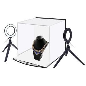 ビデオリングライト三脚の背景が付いているPULUZ PU5130 30cmの携帯用射撃のテント
