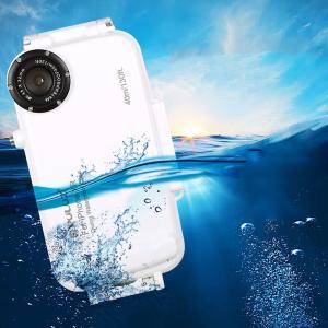 PULUZ 40m防水ダイビングシェル耐衝撃保護ケースiphone XR XS Max iP7 Pl...
