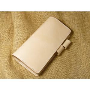ヌメ革を使用した「ほぼ日WEEKS用手帳カバー」です。(MEGA・スニーカー・カラーズ用をご希望の場...