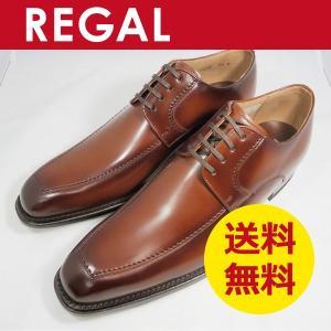 リーガル 靴 ビジネスシューズ Uチップ スクエアトゥの本革 紳士靴 124R AL|k-atmart