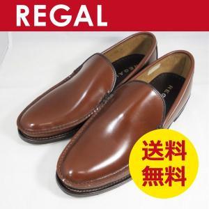 リーガル メンズ 靴 手縫いモカの革底 ヴァンプ スリッポン 15DR ブラウン|k-atmart