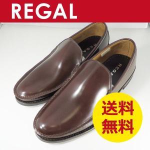 リーガル 靴 メンズ 革底のヴァンプ 15DR BC スリッポン ダークブラウン|k-atmart