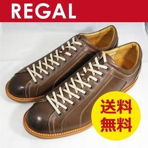 リーガル スタンダード 靴 レザースニーカー カジュアル 750R ダークブラウン|k-atmart