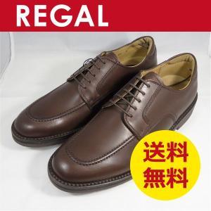 リーガル メンズ 靴 Uチップ 102W ビジネスシューズ 3E幅広 ダークブラウン|k-atmart