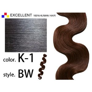ECELLENT 人毛エクステ ウェーブ BW 28inch K-1|k-brand
