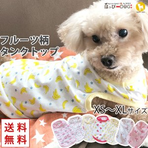 犬 服 犬服 犬の服 おしゃれトイプードル チワワ タンクトップ フルーツ柄 リゾート ドッグウェア 送料無料|k-city