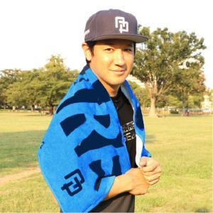 APPARE スポーツタオル ブルー×ブラックの詳細画像1
