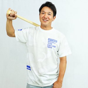 ドライシルキー迷彩ホワイトTシャツ/天晴選手着用モデル
