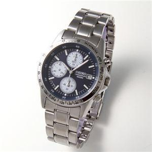 腕時計 スポーツウォッチ SEIKO(セイコー) メンズ クロノグラフブレスウォッチ SND365PC ネイビー 通販 ts200|k-consul