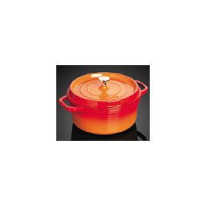 ホーロー鍋 ストウブ ピコココットラウンド オレンジ 20cm|k-direct2