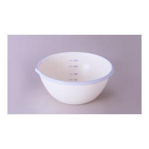 富士ホーロー 計量できるかわいい ホーロー ボール 12cm 0.4L クリーム&スカイブルー|k-direct2