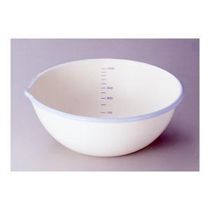 富士ホーロー 計量できるかわいい ホーロー ボール 18cm 1.2L クリーム&スカイブルー|k-direct2